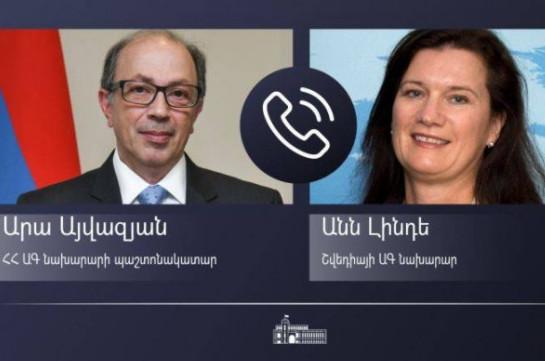 Ара Айвазян представил действующему председателю ОБСЕ обстановку в Сюникской области