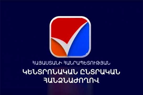 Number of eligible voters in Armenia is 2 mln 583,823