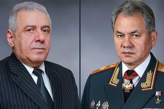 Главы оборонных ведомств Армении и России обсудили ситуацию в Сюникской области