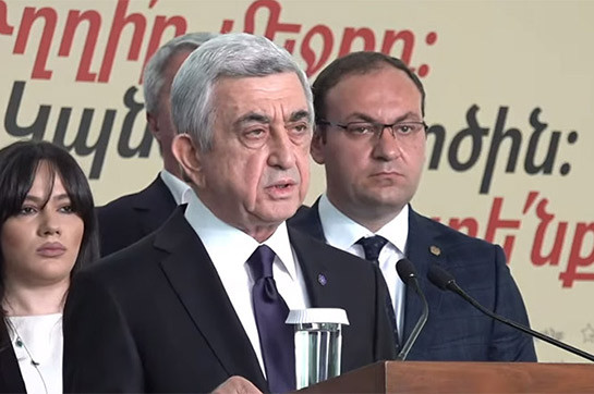 Armenia to manage stop the impending new dangers without populist authorities - Serzh Sargsyan