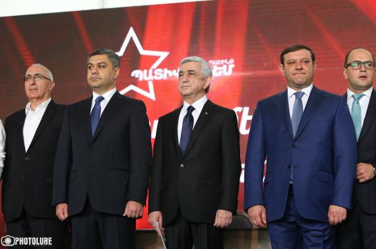 В Ереване подписан Меморандум о формировании предвыборного блока «Честь имею»