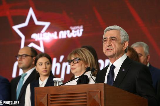 «Я больше не претендую на высокий государственный пост». Имя Сержа Саргсяна не будет в предвыборном списке блока «Честь имею»