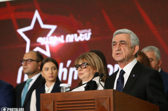 Serzh Sargsyan not included in election list, says he completed his service to Armenia, people in high posts