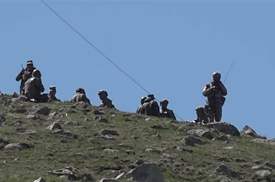 Находящиеся в Армении подразделения ВС Азербайджана ночью попытались провести работы по тыловому обеспечению