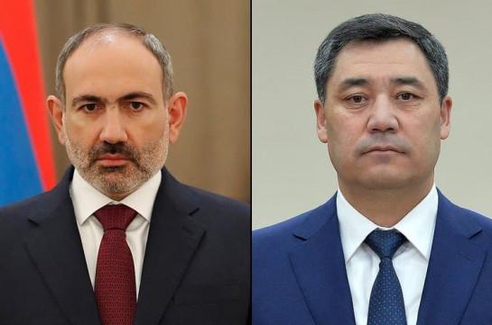 Никол Пашинян обсудил с президентом Кыргызстана ситуацию на армяно-азербайджанской границе
