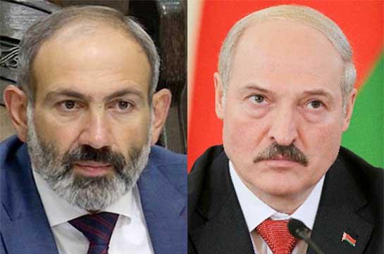 Лукашенко и Пашинян по телефону обсудили ситуацию на армяно-азербайджанской границе