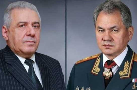 Шойгу обсудил с и.о. министра обороны Армении обстановку в регионе