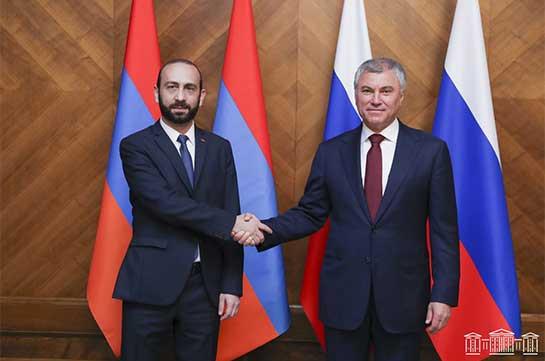 Armenian-Russian cooperation dynamically develops - Ararat Mirzoyan