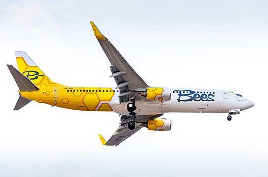 Авиакомпания «Bees» начнёт выполнение полетов по направлению Одесса -Ереван-Одесса