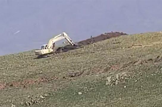 ВС Азербайджана в очередной раз пытались провести инженерные работы на приграничном участке села Верин Шоржа (Видео)