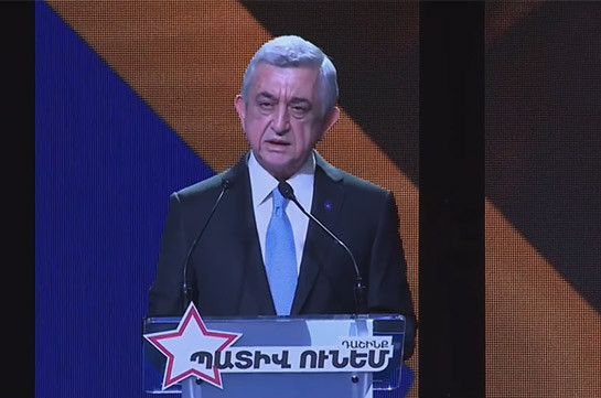 These elections are about having or not having state – Serzh Sargsyan