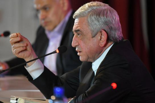 Серж Саргсян дал Пашиняну 24 часа: «Пусть представит хоть один факт»