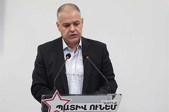 Пашинян пытается спровоцировать такой уровень напряженности, который приведет к внутренним столкновениям – руководитель штаба блока «Честь имею»