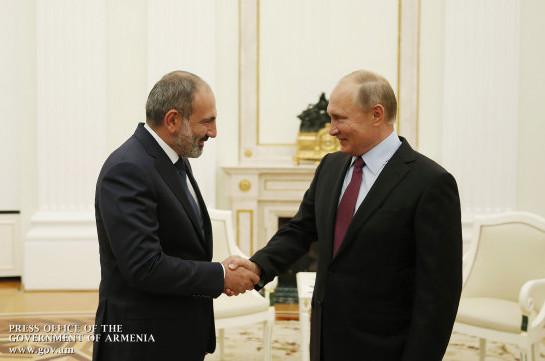 Убеждён, что армяно-российские межгосударственные отношения будут и далее развиваться в русле союзнического взаимодействия – Пашинян поздравил Путина по случаю Дня России