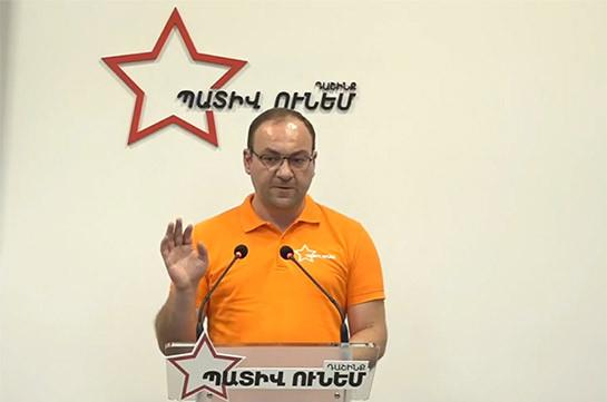 Власти оказывают на представителей блока «Честь имею» сильное политическое давление – Арсен Бабаян