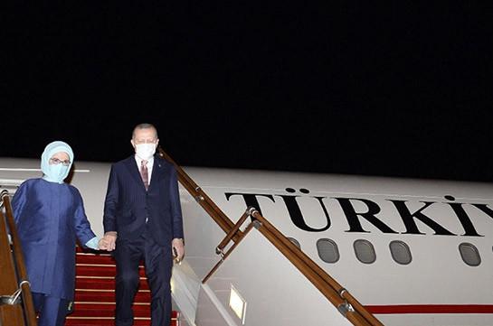 Թուրքիայի նախագահ Էրդողանը ժամանել է Բաքու