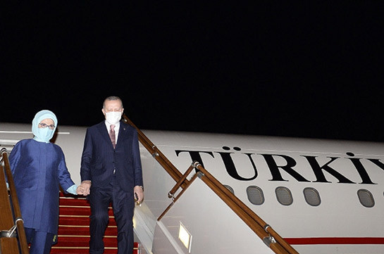 Эрдоган прибыл с визитом в Баку