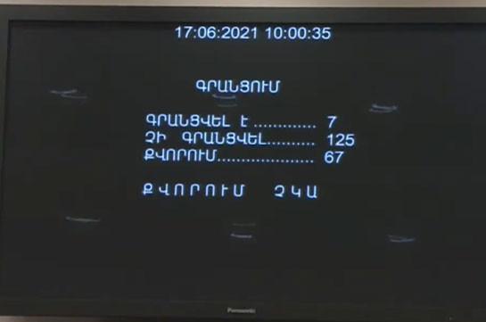 В парламенте Армении уже третий день не удается обеспечить кворум