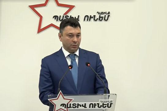 Ереван и Армения не «полигон», чтобы устраивать здесь гражданские столкновения – Эдуард Шармазанов