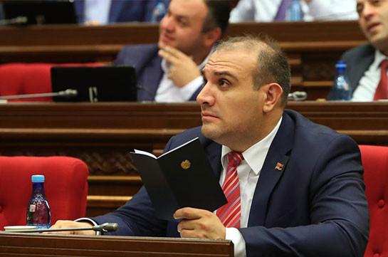 ԱԺ նախագահը ստորագրել է Համազասպ Դանիելյանի պատգամավորի լիազորությունները դադարեցնելու մասին արձանագրություն