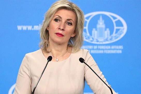 Զախարովան հայտարարել է, որ լարվածությունը Հայաստանի ու Ադրբեջանի սահմանին նվազում է