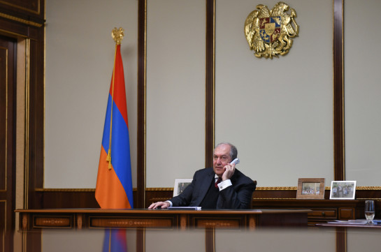 Armenia president holds phone conversation with NSS, Police chiefs ahead of snap elections tomorrow