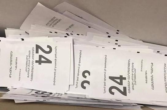 Депутат фракции «Мой шаг» Айк Саркисян опубликовал фото из кабины для голосования: в полиции подготавливаются материалы