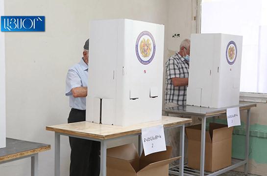 На внеочередных парламентских выборах по состоянию на 14:00 проголосовали 26,82% избирателей