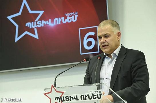 Задержание представителей предвыборного штаба блока «Честь имею» доказывает, что проигравшая власть цепляется за пену – Давид Арутюнян