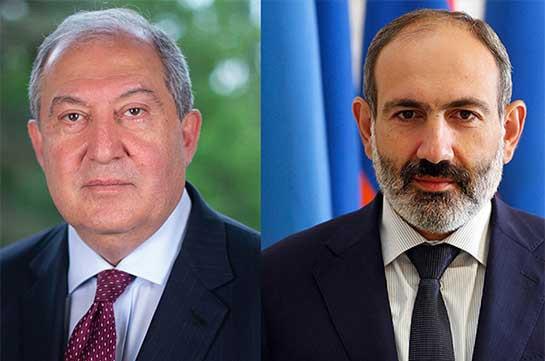 Президент Армении поздравил Пашиняна с победой на досрочных выборах в парламент