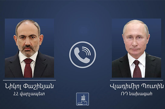 Armenia's acting PM holds phone conversation with Russia's Putin