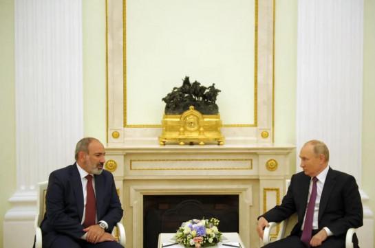 Elections in Armenia proved people's trust toward Pashinyan - Putin