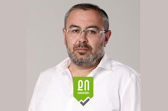Сурен Саакян прекращает членство в партии «Выбор гражданина»