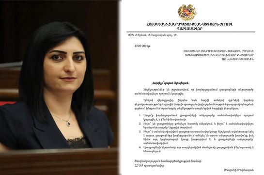 Принято решение об ограничении передвижения журналистов в парламенте – Тагуи Товмасян