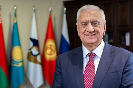 Եվրասիական տնտեսական հանձնաժողովի կոլեգիայի նախագահը շնորհավորել է Նիկոլ Փաշինյանին՝ վարչապետի պաշտոնում նշանակվելու կապակցությամբ