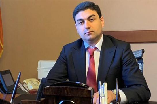 Сурен Гамбарян освобожден от должности помощника премьер-министр Армении.
