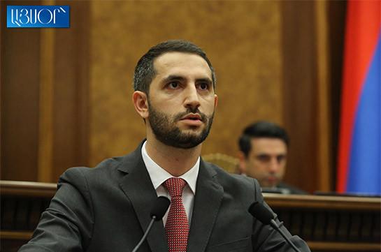 Ruben Rubinyan elected vice speaker of Armenia's NA