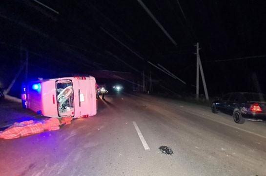 Բուժօգնության նպատակով Երևան տեղափոխվող 59-ամյա կինը մահացել է շտապօգնության ավտոմեքենայի մասնակցությամբ վթարի հետևանքով