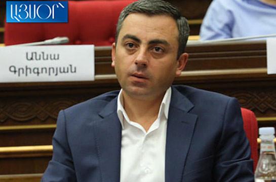 Фракция «Честь имею» проголосует за кандидатуру Ишхана Сагателяна