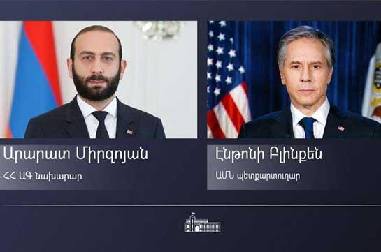 ԱՄՆ-ն խրախուսում է Մինսկի խմբի համանախագահության շրջանակում օր առաջ Լեռնային Ղարաբաղի հարցով բովանդակային բանակցությունների վերսկսումը. Բլինքենը շնորհավորել է Միրզոյանին
