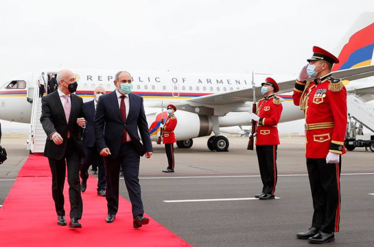 Nikol Pashinyan has arrived in Georgia on a state visit
