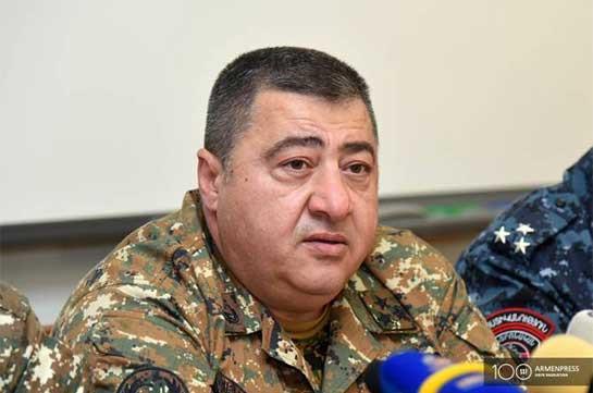 Саак Оганян освобожден от должности начальника военно-медицинского управления ВС Армении