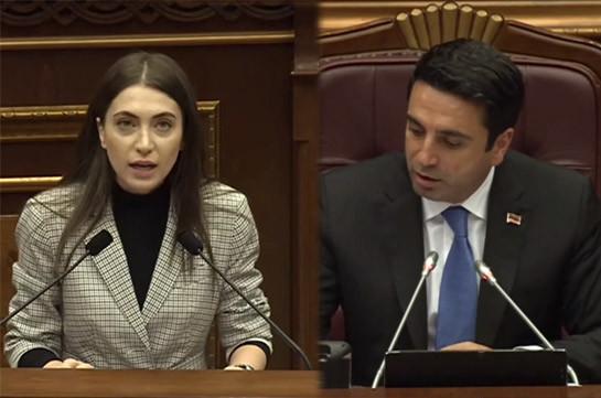 «Я не понял, почему нужно было представлять в парламенте эти выдуманные картины?» – Ален Симонян о цитатах из доклада омбудсмена Армении