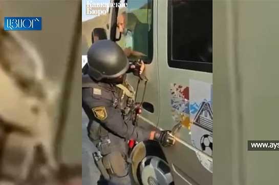 Азербайджанцы остановили и проверили на дороге Горис-Капан армянский микроавтобус с детьми – вице-мэр Гориса (Видео)