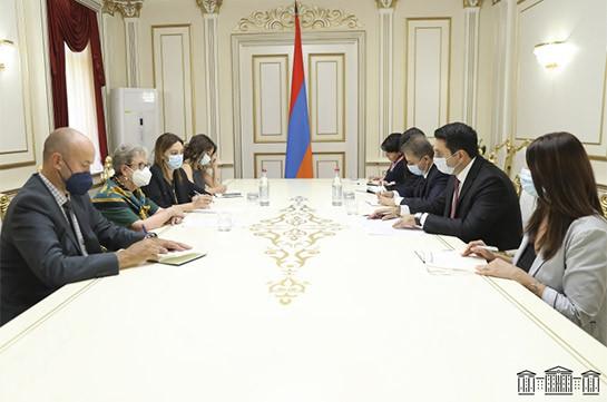 Ալեն  Սիմոնյանն ու Հայաստանում ԵՄ պատվիրակության ղեկավարն անդրադարձել են ԼՂ հակամարտության կարգավորման ներկա փուլին
