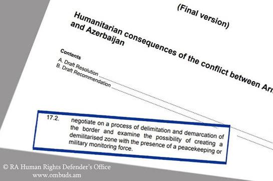 Делимитация и демаркация границы с Азербайджаном без создания зоны безопасности станет причиной новой напряженности – Арман Татоян