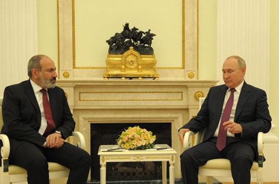 Пашинян назвал продуктивной встречу с Путиным
