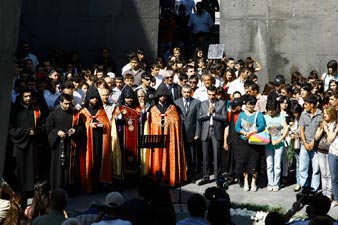 A liturgy and a protest in Tsitsernakaberd