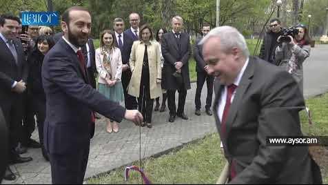 В парке парламента Армении заложена Аллея российско-армянской дружбы
