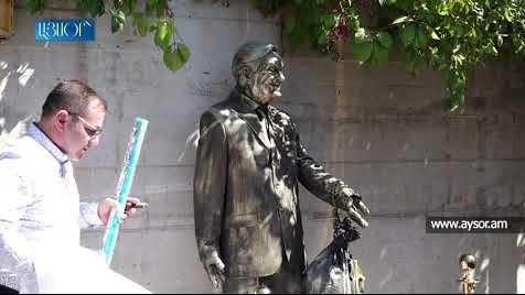 Как в Ереване открыли памятник Соросу